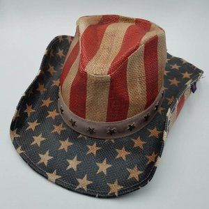 Peter Grimm Star Spangled Western Hat